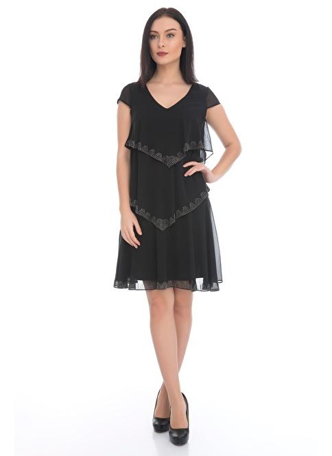 2f39fa961df93 6ixty8ight Kadın Kısa Abiye Elbise Siyah | Morhipo | 20494929